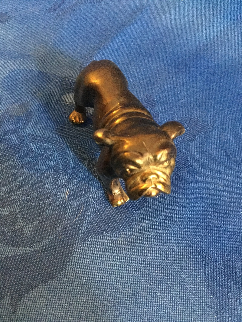Small copper plated bulldog