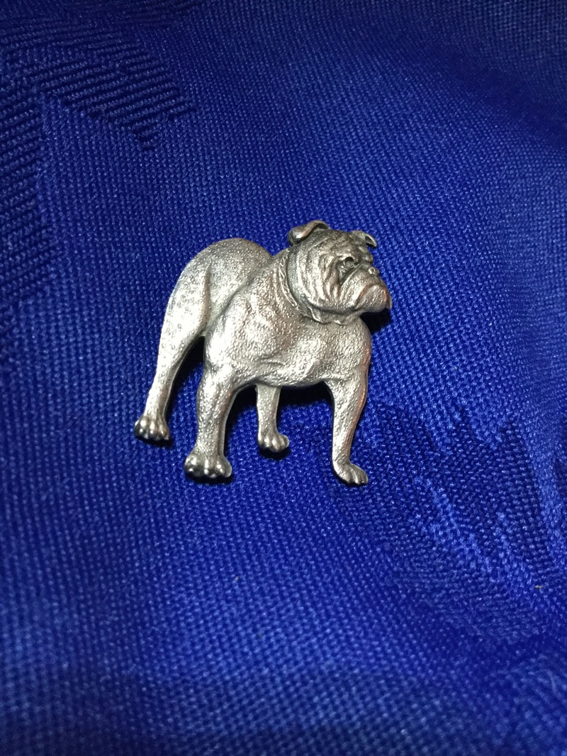 Sterling silver pin badge